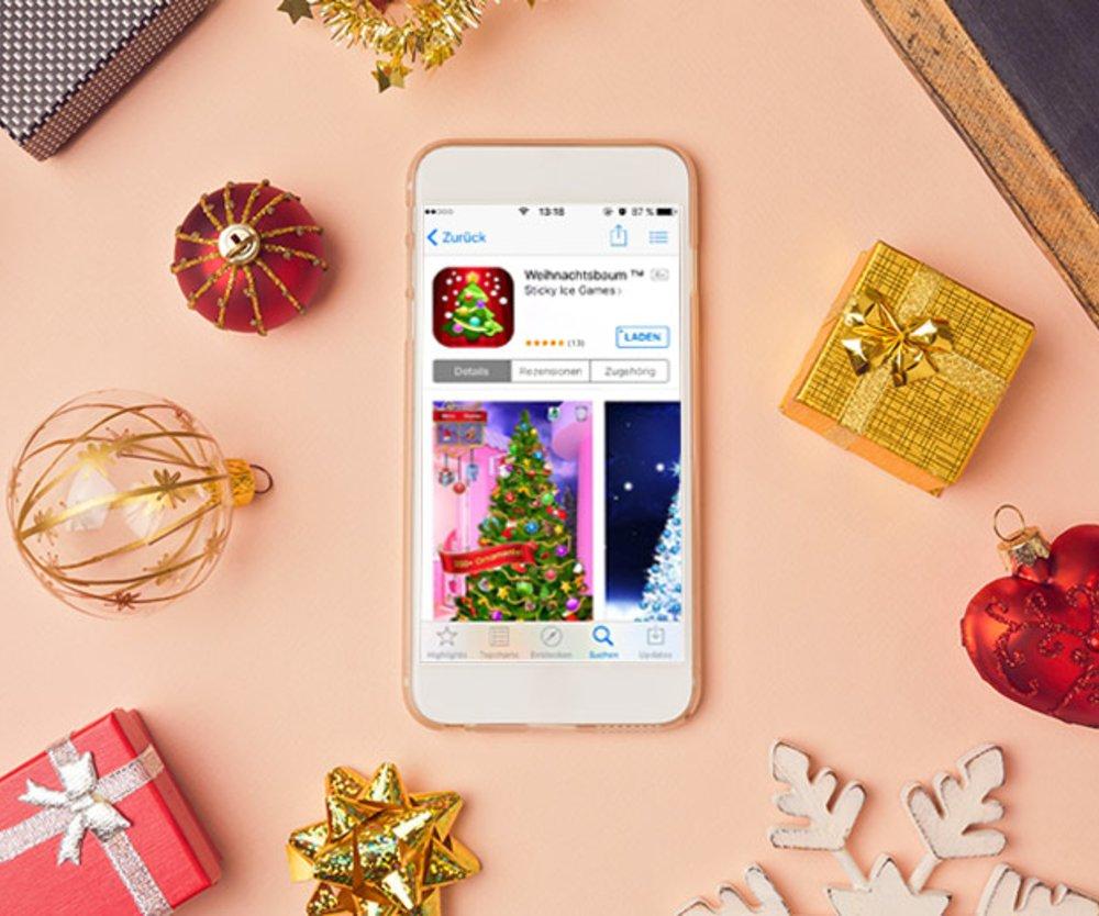Schmücken Sie einen digitalen Weihnachtsbaum und organisieren Sie Ihre Geschenke. Das sind die besten Apps zur Weihnachtszeit.