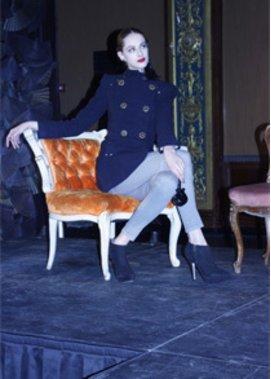Leifsdottir auf der Fashion Week in New York