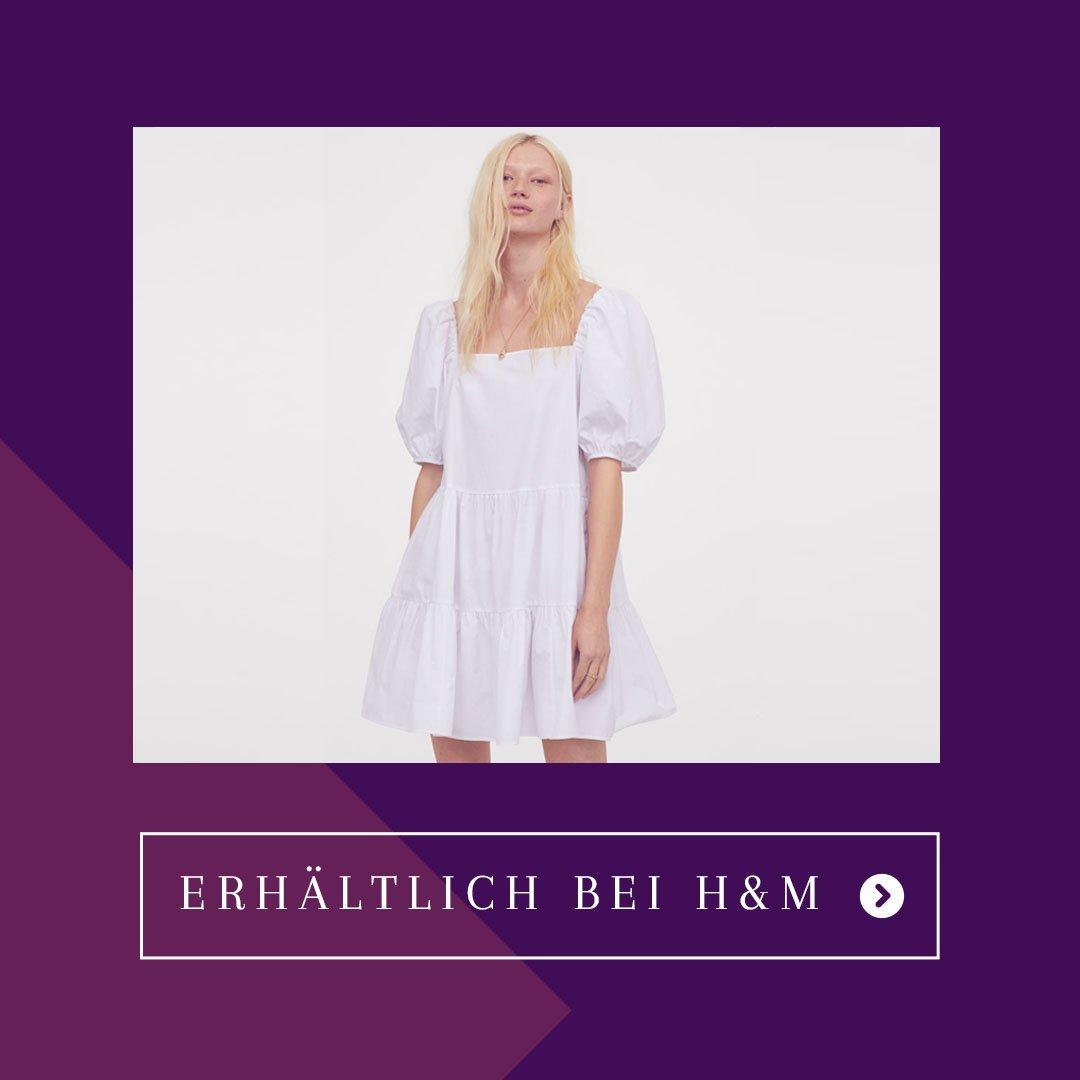 Stacytion H&M Sommerkleid Kleid mit Puffärmeln
