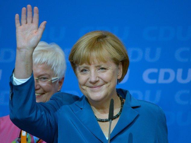 Angela Merkel bei der CDU-Wahlparty in Berlin