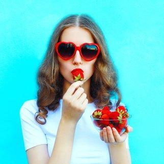 Erdbeeren nicht essen, wenn sie dunkle Druckstellen haben