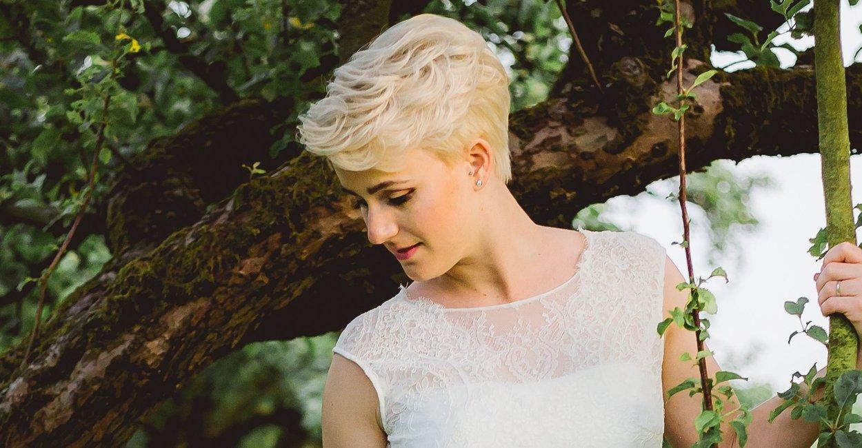 28 Wunderschone Brautfrisuren Fur Kurze Haare Desired De