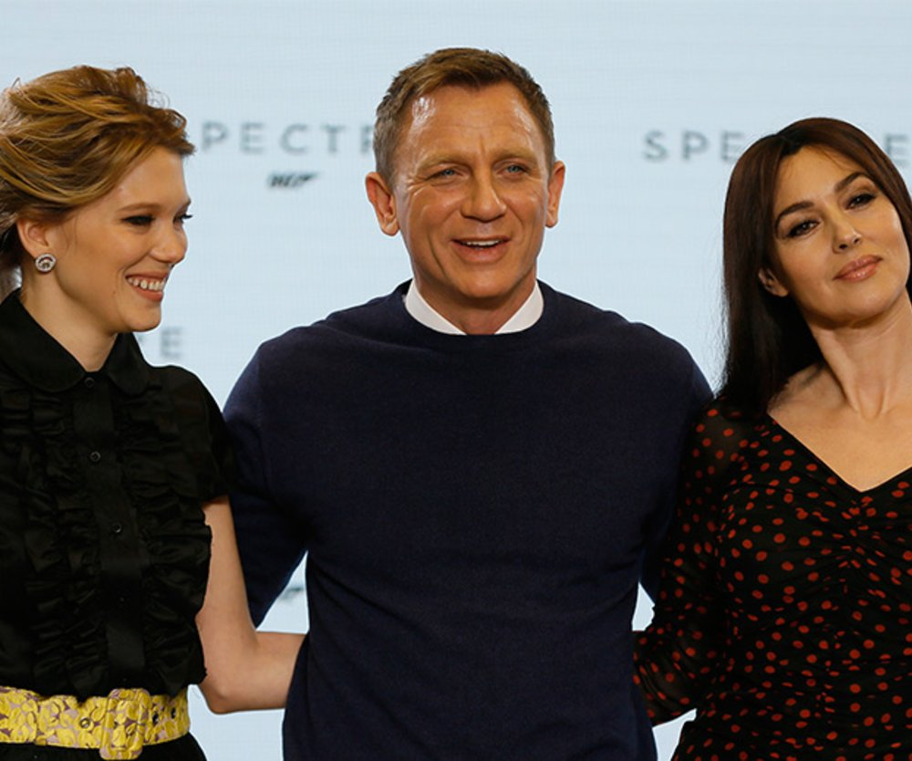 Lea Seydoux, Daniel Craig und Monica Bellucci