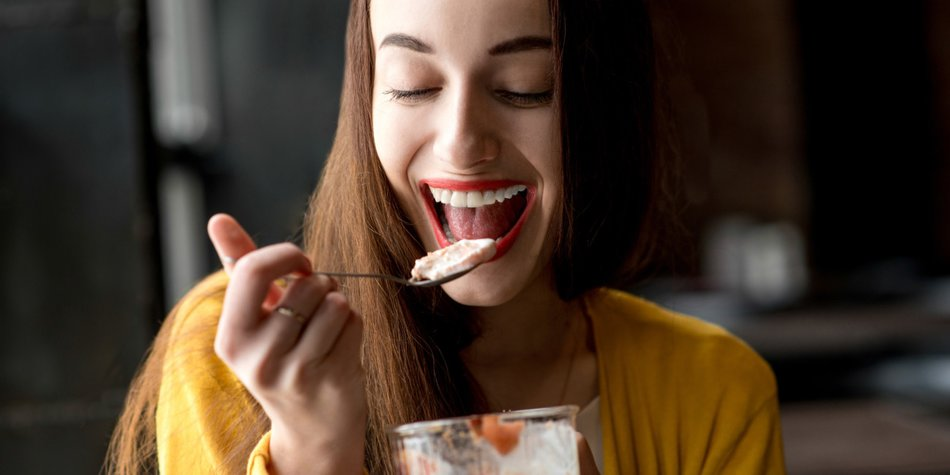 mehr essen weniger wiegen