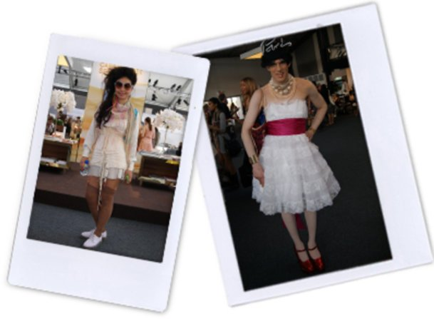 Fashion Week-Outfits von Stephanie und Jean