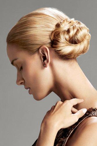 Eingedrehter Haarknoten