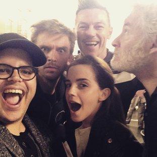 """Emma Watson am Set von """"Die Schöne und das Biest"""""""