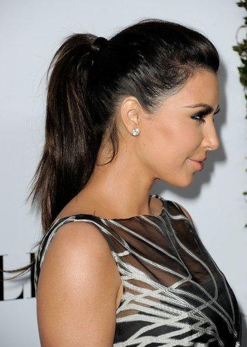Kim Kardashian mit Pferdeschwanz