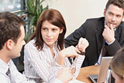 Diskussionsrunde bei einem Assessment-Center