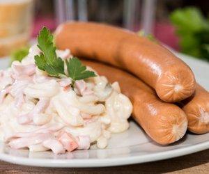 Nudelsalat mit Fleischsalat
