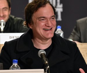 NEW YORK, NY - DECEMBER 14: Director Quentin Tarantino speaks at the press conference for THE HATEFUL EIGHT at Waldorf Astoria Hotel on December 14, 2015 in New York City. (Photo by Bryan Bedder/Getty Images for The Weinstein Company)
