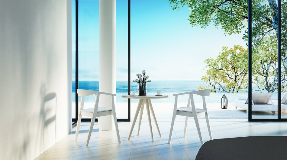 The Modern Bedroom - Sundeck on Sea view for vacation and summer