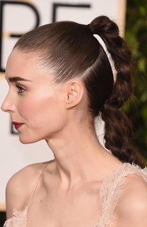 BEVERLY HILLS, CA - JANUARY 10:  Actress Rooney Mara, hair detail, attends the 73rd Annual Golden Globe Awards held at the Beverly Hilton Hotel on January 10, 2016 in Beverly Hills, California.  (Photo by Jason Merritt/Getty Images)