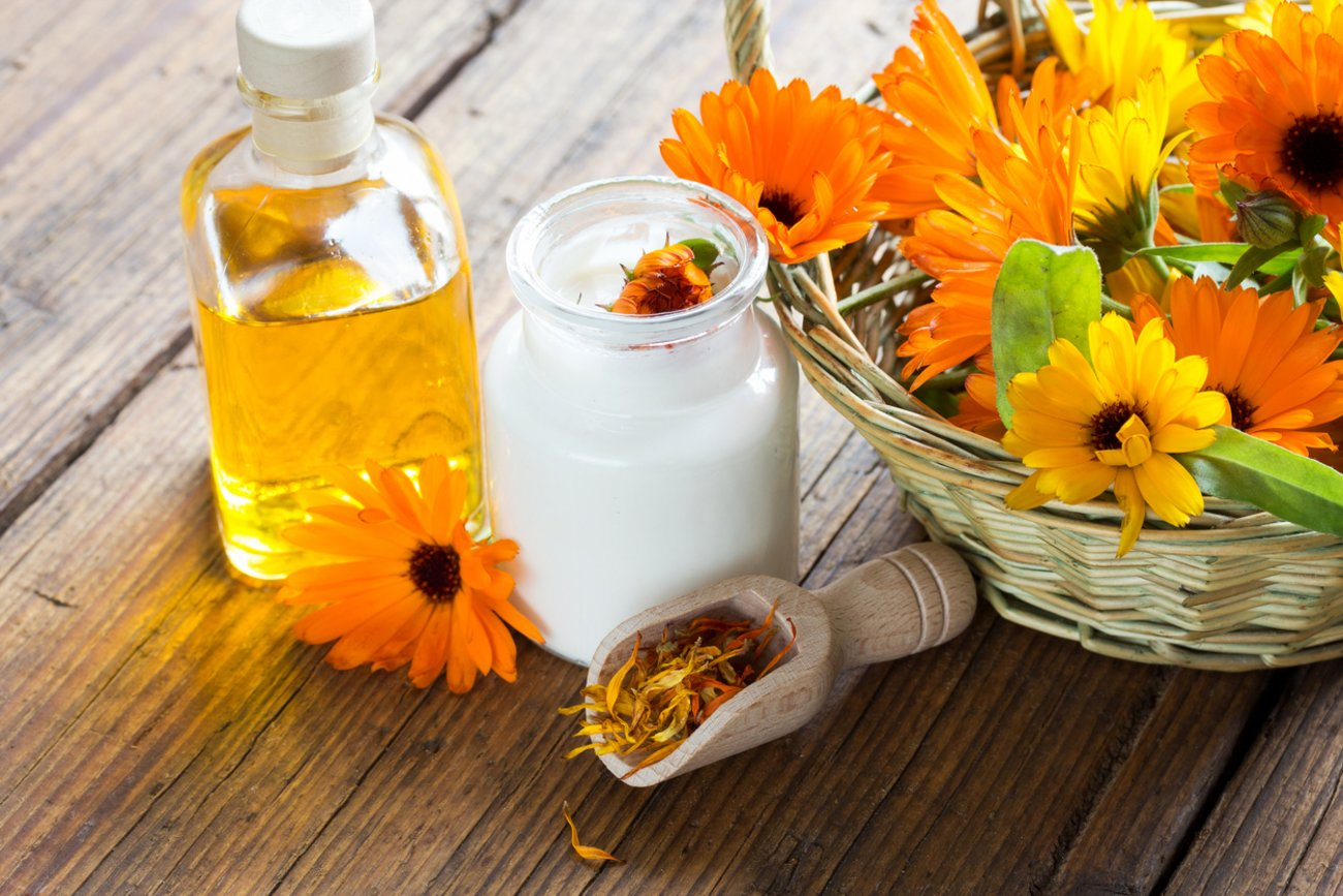 Hausmittel gegen Lippenherpes Ringelblumensalbe