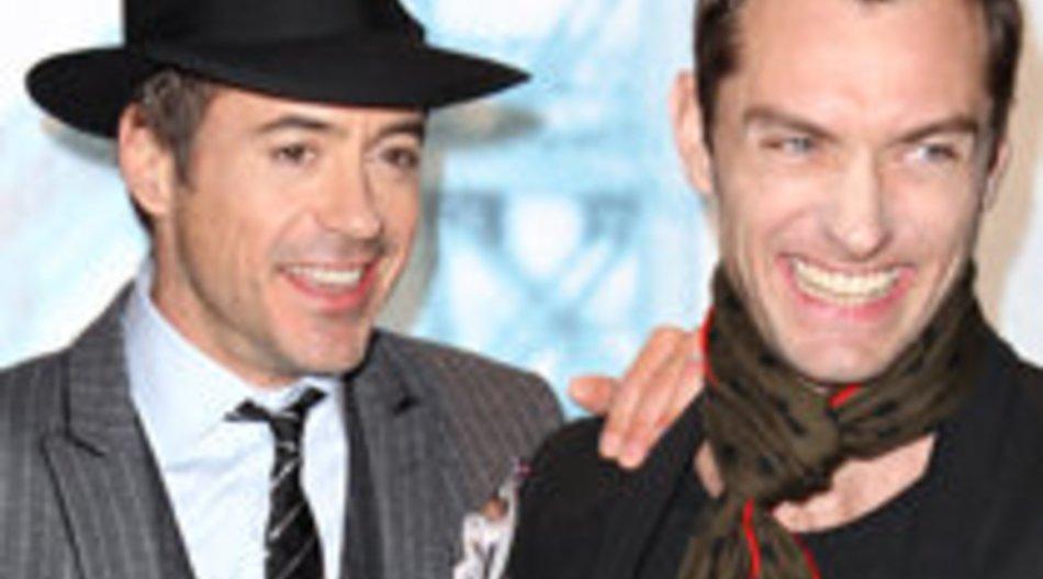Jude Law, Robert Downey Jr. und Guy Ritichie feiern Film-Premiere