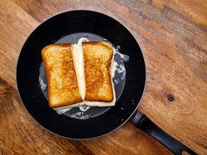 Grilled Cheese in der Pfanne