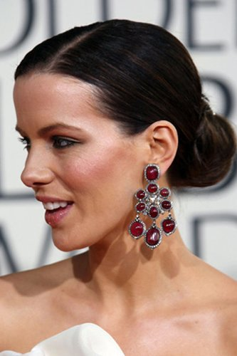 Kate Beckinsale mit strengem Dutt
