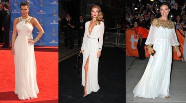 Lieben Rönerkleider: Kim Kardashian, Rosie Huntington-Whiteley und Olivia Wilde