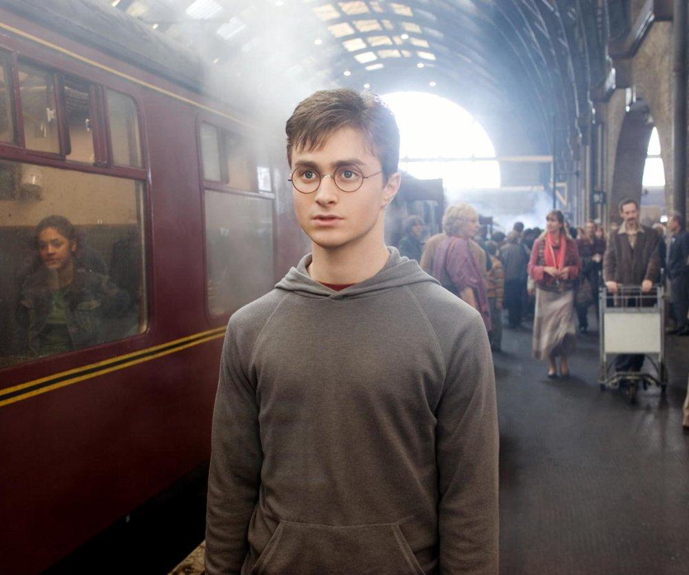 Harry Potter am Gleis 9 3/4
