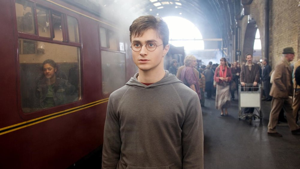 Harry Potter am Gleis 9 3/4
