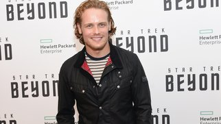 """NEW YORK, NY - JULY 18: Sam Heughan attends the """"Star Trek Beyond"""" New York Premiere at Crosby Street Hotel on July 18, 2016 in New York City. (Photo by Jamie McCarthy/Getty Images)"""