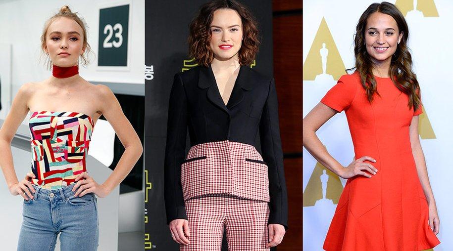 Lily Rose Depp, Daisy Ridley, Alicia Vikander
