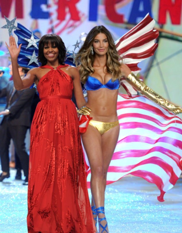 Lily Aldridge und Michelle Obama