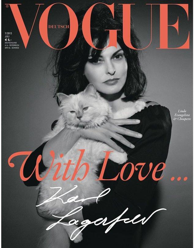 Karl Lagerfeld ist Thema der Juli-Vogue