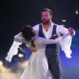 COLOGNE, GERMANY - MARCH 11: Niels Ruf and Oti Mabuse perform on stage during the 1st show of the television competition 'Let's Dance' on March 11, 2016 in Cologne, Germany. (Photo by Andreas Rentz/Getty Images)