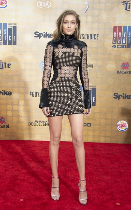 Model/actress Gigi Hadid attends The Spike TV Guys Choice at the Sony Pictures Studios, in Culver City, California, on June 4, 2016. / AFP / VALERIE MACON (Photo credit should read VALERIE MACON/AFP/Getty Images)