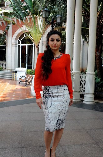 Eine indische Schauspielerin in Mumbai