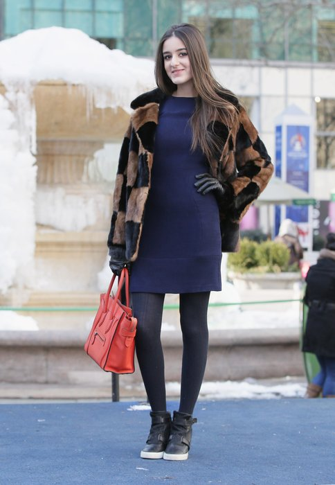 Sketch To Street Style: Washable is Fashionable with Tide Pods and Charlotte Ronson's F/W 2015 Collection on February 19, 2015 in New York City.