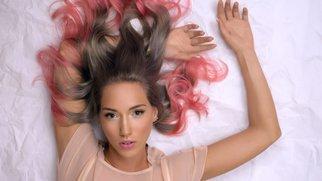 Gefärbte Haarspitzen