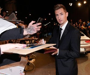 BERLIN, GERMANY - NOVEMBER 06: Miroslav Klose arrives at the GQ Men of the Year Award 2014 at Komische Oper on November 6, 2014 in Berlin, Germany. (Photo by Timur Emek/Getty Images for GQ)
