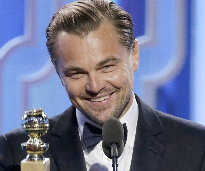 "BEVERLY HILLS, CA - JANUARY 10: In this handout photo provided by NBCUniversal, Leonardo DiCaprio accepts the award for Best Actor - Motion Picture, Drama for ""The Revenant"" during the 73rd Annual Golden Globe Awards at The Beverly Hilton Hotel on January 10, 2016 in Beverly Hills, California. (Photo by Paul Drinkwater/NBCUniversal via Getty Images)"
