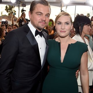 LOS ANGELES, CA - JANUARY 30: Actors Leonardo DiCaprio (L) and Kate Winslet attend The 22nd Annual Screen Actors Guild Awards at The Shrine Auditorium on January 30, 2016 in Los Angeles, California. 25650_014 (Photo by Larry Busacca/Getty Images for Turner)