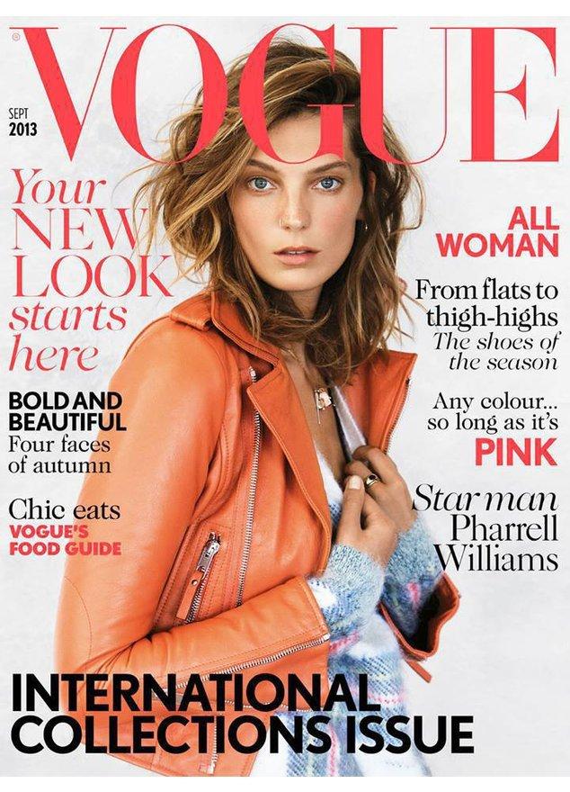 Daria Werbowy auf dem Cover der britischen Vogue