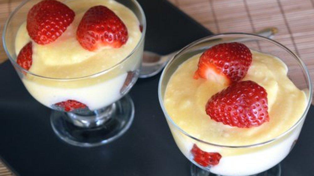 Erdbeer Dessert im Glas