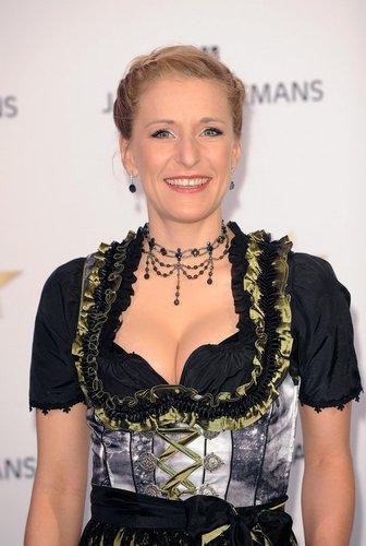 Stefanie Hertel auf dem Red Carpet.