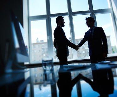 Verhandlungssituation im Büro