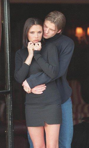 David Beckham kurz nach seiner Verlobung