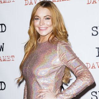 "LONDON, ENGLAND - OCTOBER 02: Lindsay Lohan attends the press night after party of ""Speed The Plow"" at Playhouse Theatre on October 2, 2014 in London, England. (Photo by Tristan Fewings/Getty Images)"