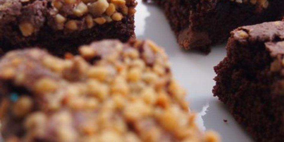 Brownies mit Krokant