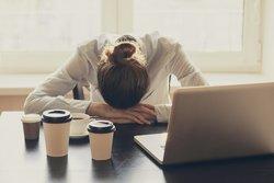 Müdigkeit durch Kaffee