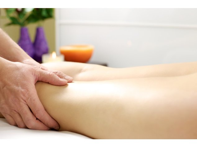 Eine manuelle Lymphdrainage