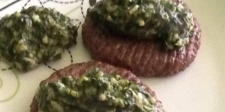 Spinat mit Rindfleisch