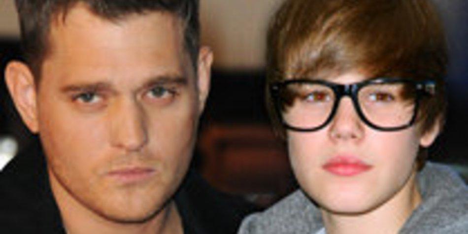 Justin Bieber wird von Michael Bublé imitiert