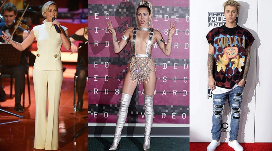 Helene Fischer, Miley Cyrus, Justin Bieber