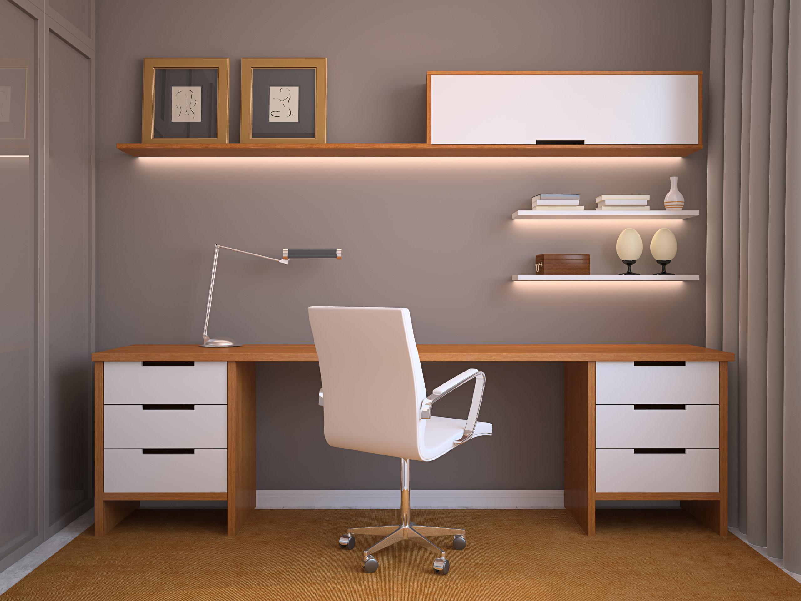 Arbeitszimmer gestaltungsmöglichkeiten  Arbeitszimmer: So richtest Du es ein | erdbeerlounge.de