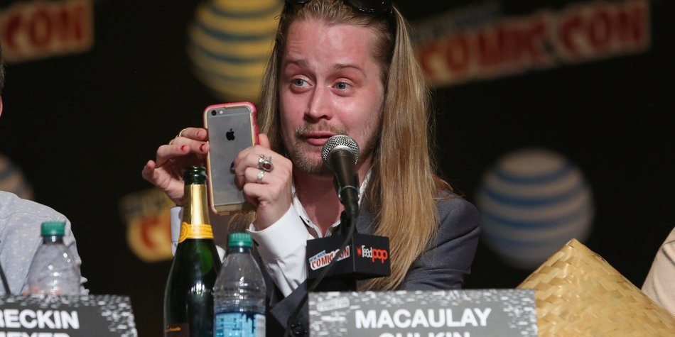 NEW YORK, NY - OCTOBER 09: Actor Macaulay Culkin spakes at the Adult Swim Panel: Robot Chicken. Adult Swim at New York Comic Con 2015 at the Jacob Javitz Center on October 9, 2015 in New York, United States. 25749_002 418.JPG (Photo by Cindy Ord/Getty Images For Turner)